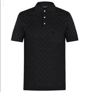 Louis Vuitton Classic Damier Pique Black Polo
